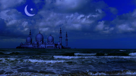 Ramadan Kareem islamic background Footage