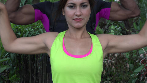 Fit People Flexing Muscles Footage