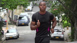 Man Jogging Or Running Footage
