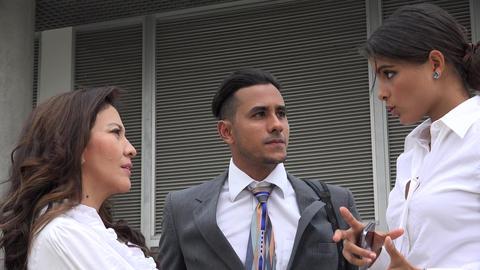 Business Woman Explaining Tasks Footage