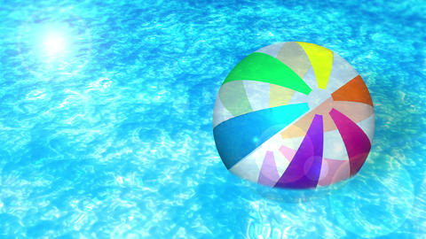 swim in a swimming pool, beach ball, loop, cg CG動画