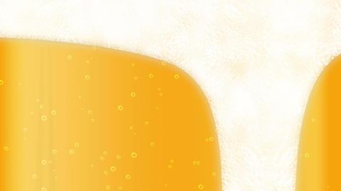 full bottle of drink, Beer bubble, loop, cg Animation