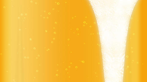 full bottle of drink, Beer bubble, loop, cg Animation