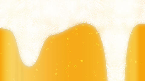 full bottle of drink, Beer bubble, cg Animation