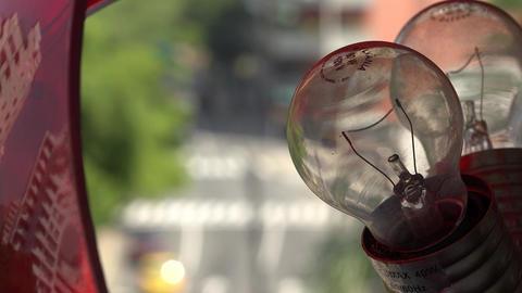 Broken Light Bulb Lamp Live Action