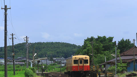 Local railway leave the country station of Japan/ローカル鉄道、小湊鉄 Live Action