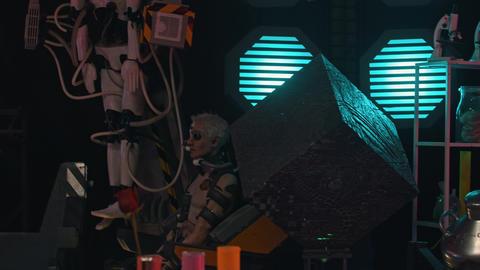 RUSSIA, KAZAN 10-09-2019: Secret Alien Researching Lab... Stock Video Footage