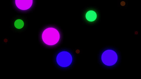 Color Changing Colorful Circles Move Vertically Across The Screen In A Seamless Loop Animation