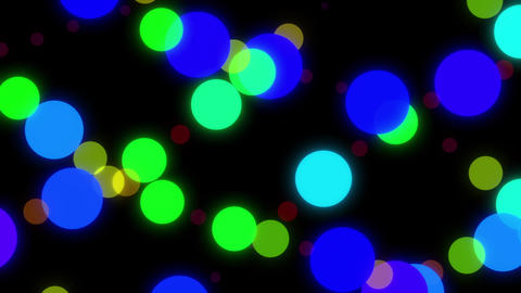 Big Colorful Dots Moving Around The Screen Happy Looping Video Animation