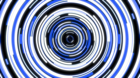 White And Blue Circles Form An Abstract VJ Visual Looping Seamlessly Animation