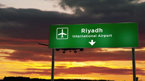 Plane landing in Riyadh Live Action