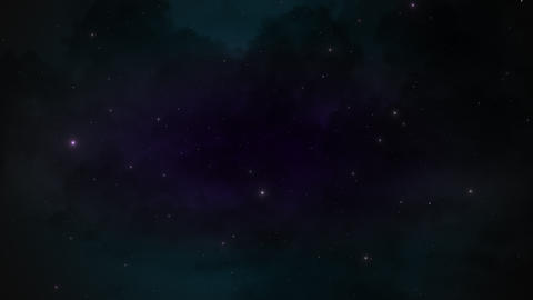 Motion particles and stars in galaxy, abstract background Animation