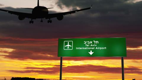 Plane landing in Tel Aviv Live Action