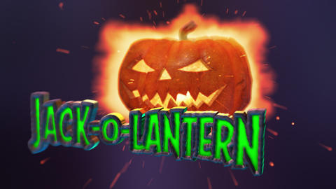 Jack-o-Lantern - Halloween Pumpkin Logo Stinger After Effectsテンプレート