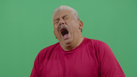 Adult Man Yawning Deeply Live Action
