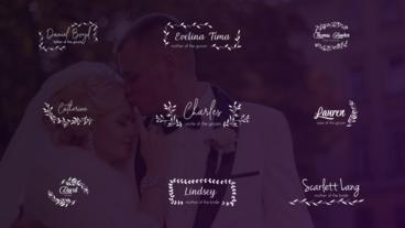 Wedding Titles and Lower Thirds After Effects Template