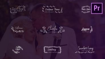 Wedding Titles and Lower Thirds モーショングラフィックステンプレート