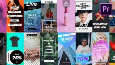 21 Instagram Stories Plantillas de Motion Graphics