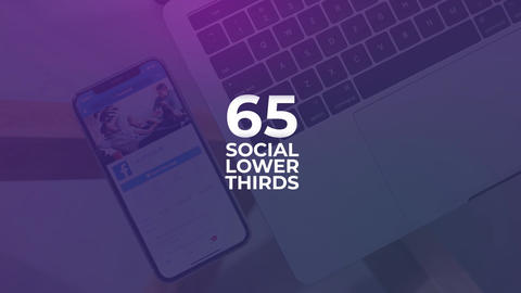 65 Social Lower Thirds After Effects Template