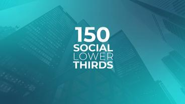 150 Social Lower Thirds Motion Graphics Template