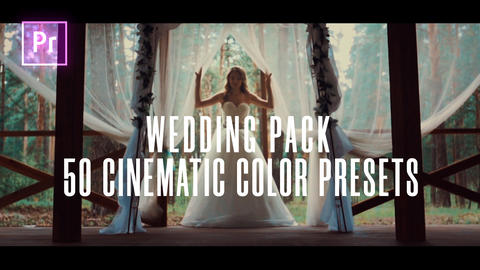 50 Wedding Color Presets for Premiere Pro Plantillas de Premiere Pro