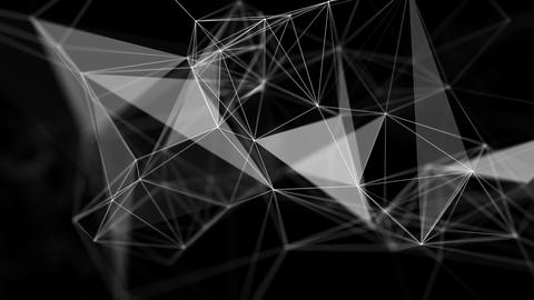 Abstract Futuristic Data Connections Background, Technology Concept Live Action