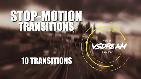 Stop Motion Transitions Premiere Pro Template