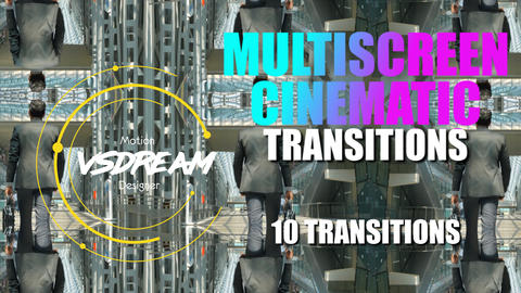 Multiscreen Cinematic Transitions Premiere Proテンプレート