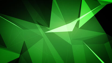 Dark Green plexus animation with edges and faces Animation