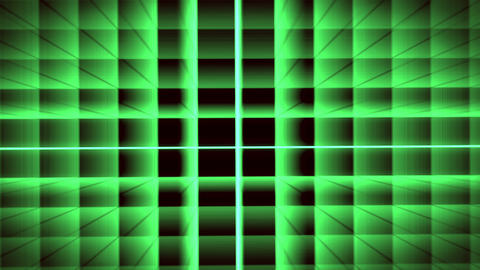 Futuristic Green Grid Animation with ray of light effect. Seamless loop background Animation