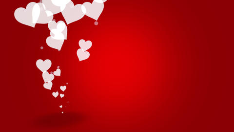 Valentines day shiny background. Animation romantic heart Animation