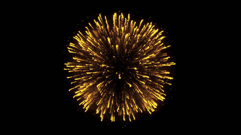 Abstract Realistic Firework show explosions in the evening sky Live Action