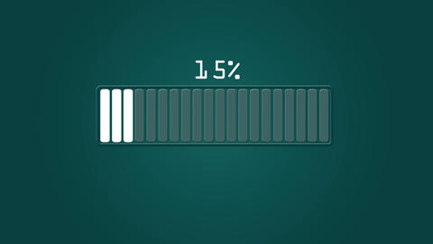 Hi-tech Loading bar design element HUD version fourth After Effects Template