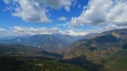 Nature mountains background video 4k. Sky clouds Himalayas Nepal Footage