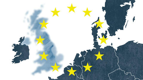 Brexit - United Kingdom exclusion from European Union after 2016's referendum Animation
