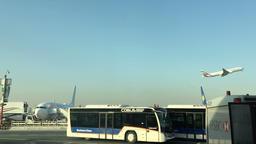 DUBAI, UNITED ARAB EMIRATES - MARCH 23 2016: Dubai airport HD travel video Footage