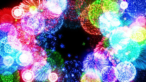 Fireworks Festival 4 Round1 4K Animation