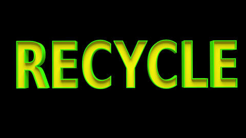 4K Recycle Text Bumper 2 Animation