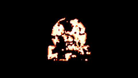 Symbol donate burns out of transparency, then burns again. Alpha channel Premultiplied - Matted with Animation