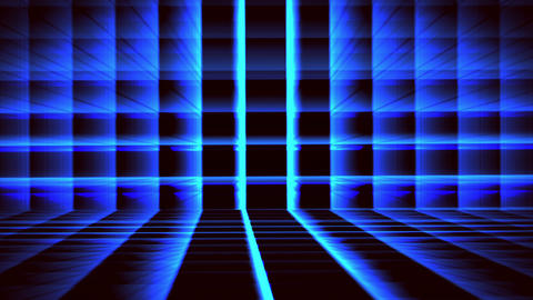 Futuristic Horizontal Blue Grid Animation with ray of light effect Animation
