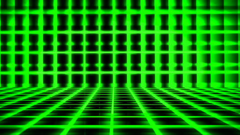 Futuristic Horizontal Coloured Grid Animation with Ray of Light Effect Animation