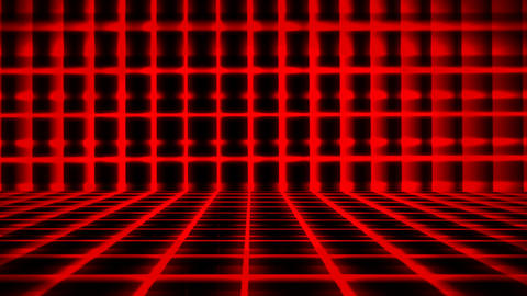 Futuristic Horizontal Red Grid Animation with Ray of Light Effect Animation