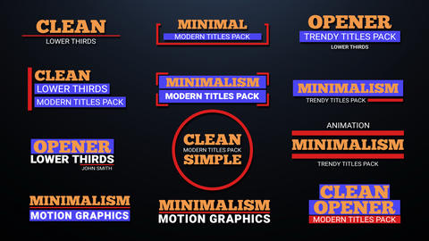 Titles Animation Motion Graphics Template