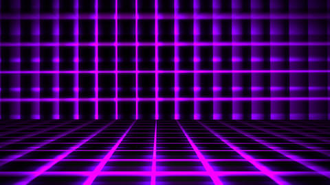 Futuristic Horizontal Purple Grid Animation with Ray of Light Effect Animation