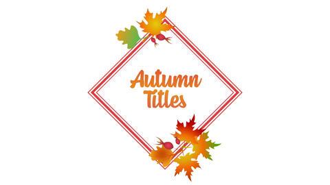 Autumn Titles Premiere Proテンプレート