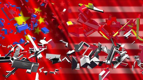4K US China Trade War 1 Animation