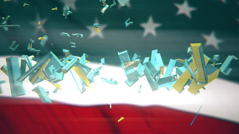 4K US President Impeachment 2 Animation