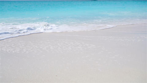 Perfect white sandy beach with turquoise water Footage