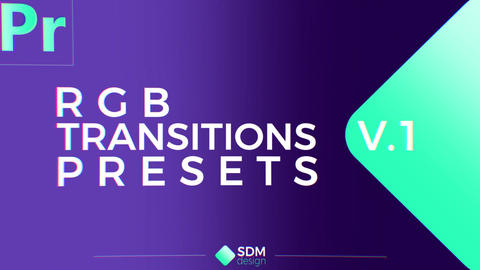 RGB Transitions Pack V.1 Plantillas de Premiere Pro