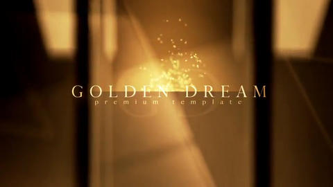 Golden dream After Effects Template